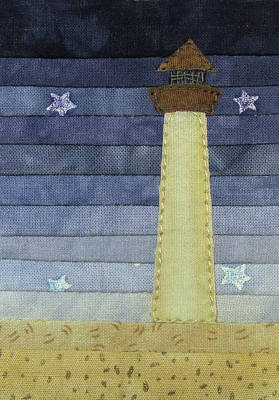 Tapestry - Textile - Tiny Lighthouse by Pam Geisel