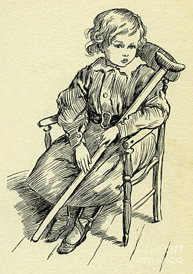 Drawing - Tiny Tim From A Christmas Carol By Charles Dickens by Harold Copping