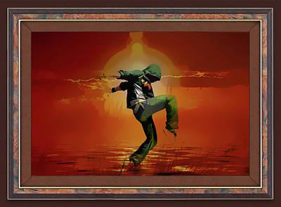Digital Art - Tip Toe Dancer by Clive Littin