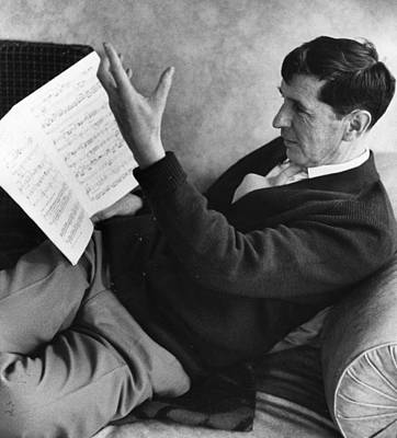 Photograph - Tippett Reading by Erich Auerbach