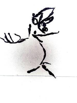 Digital Art - Tissue Paper Saga 8 Tightrope by Artist Dot