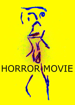 Digital Art - Tissue Paper Saga Horror Movie by Artist Dot