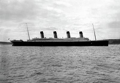 Photograph - Titanic Leaving Southampton by Doc Braham