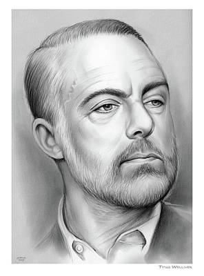 Drawing - Titus B. Welliver by Greg Joens