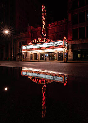 Wall Art - Photograph - Tivoli Theatre Reflections by Phil Thach