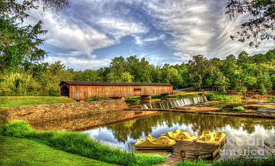 Photograph - To His Glory Watson Mill Covered Bridge Madison County Ga Art by Reid Callaway