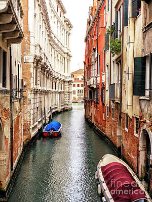 Photograph - To The End Of The Canal In Venice by John Rizzuto