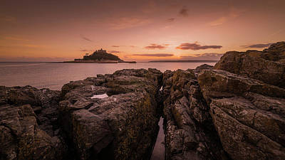 Photograph - To The Sunset - Marazion Cornwall by Eddy Kinol