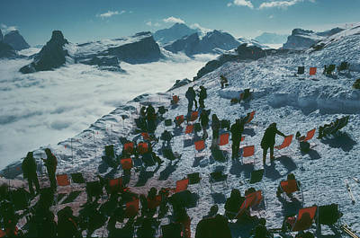 Ski Resort Photograph - Tofana Ledge by Slim Aarons