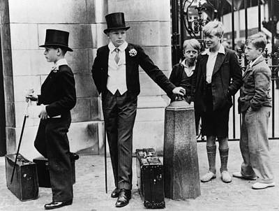 Walking Photograph - Toffs And Toughs by Jimmy Sime