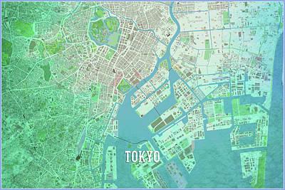 Digital Art - Tokyo by Gary Grayson