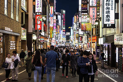 Photograph - Tokyo Nights by Didier Marti