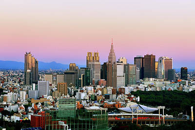 Financial District Photograph - Tokyo, Shinjuku At Sunrise by Vladimir Zakharov