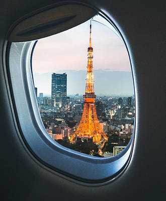 Tokyo Skyline With The Tokyo Tower Art Print by Franckreporter