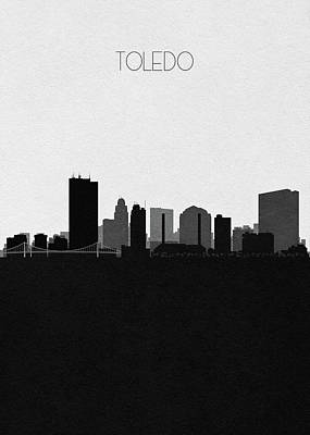 Digital Art - Toledo Cityscape Art by Inspirowl Design