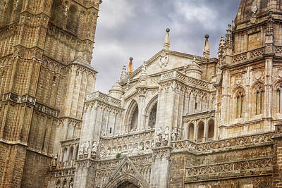 Wall Art - Photograph - Toledo Spain Cathedral Facade by Joan Carroll
