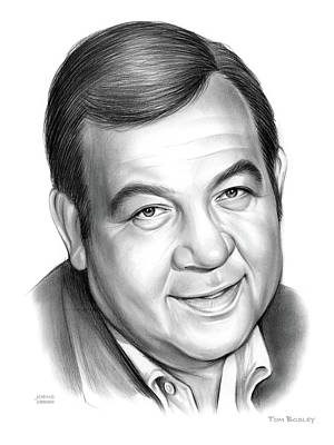 Drawings Royalty Free Images - Tom Bosley Royalty-Free Image by Greg Joens