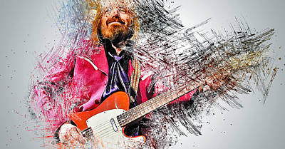 Painting - Tom Petty - 32 by Andrea Mazzocchetti
