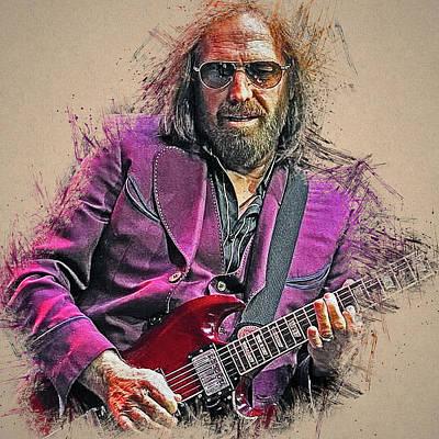 Painting - Tom Petty - 33 by Andrea Mazzocchetti