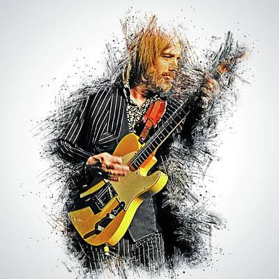 Painting - Tom Petty - 34 by Andrea Mazzocchetti