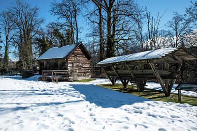 Photograph - Tom Porter Cabin And Cedar Canoe by Tom Cochran