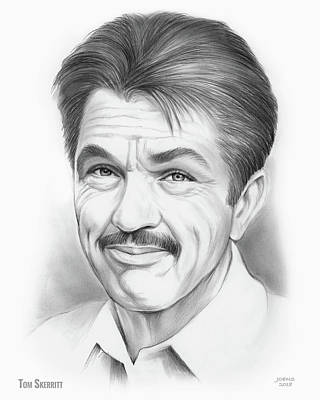 Drawings Royalty Free Images - Tom Skerritt Royalty-Free Image by Greg Joens
