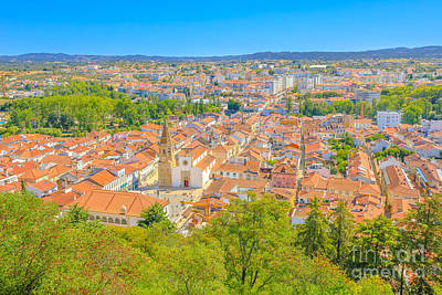 Photograph - Tomar Cityscape Aerial by Benny Marty