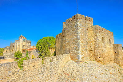 Photograph - Tomar Fortress And Walls by Benny Marty