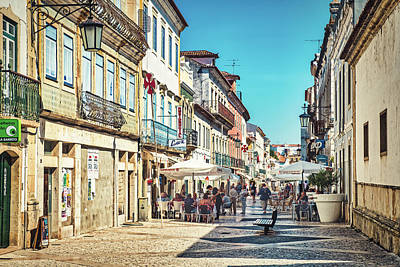Photograph - Tomar Portugal Street Scene by Stuart Litoff
