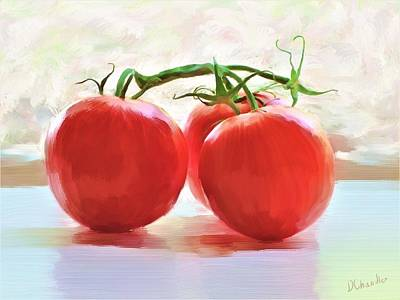 Painting - Tomato Gossip by Diane Chandler