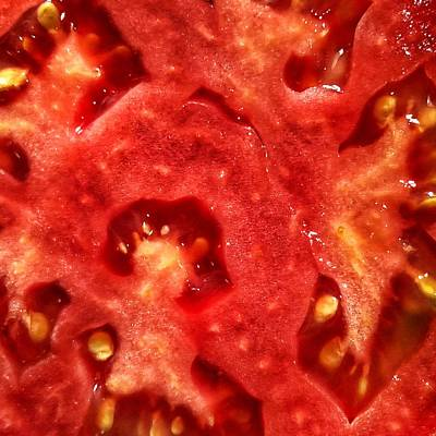 Tomatoe Wall Art - Photograph - Tomato Interior by Jame Hayes