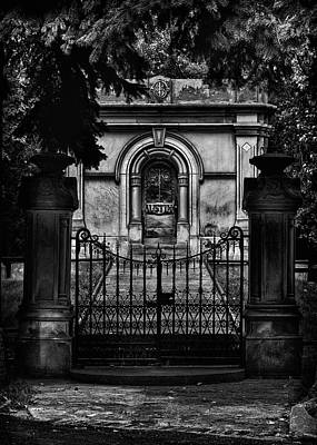 Art Print featuring the photograph Tombstone Shadow No 6 by Brian Carson