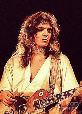 Music Paintings - Tommy Bolin, Music Legend by Esoterica Art Agency