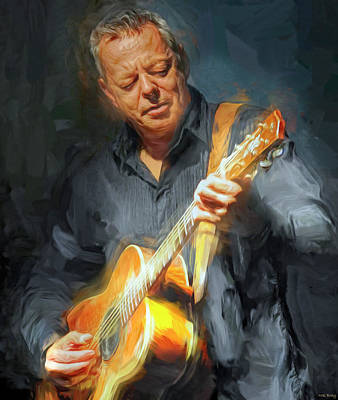 Jazz Mixed Media Royalty Free Images - Tommy Emmanuel Royalty-Free Image by Mal Bray