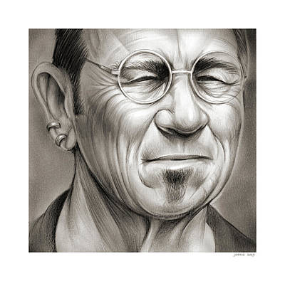 Drawings Royalty Free Images - Tommy Lee Jones Royalty-Free Image by Greg Joens
