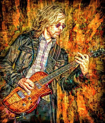 Mixed Media Royalty Free Images - Tommy Shaw Styx Royalty-Free Image by Mal Bray