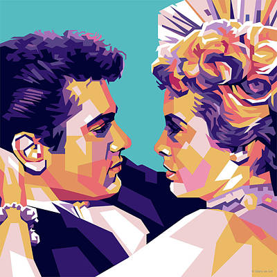 Classic Cocktails - Tony Curtis and Janet Leigh by Stars on Art