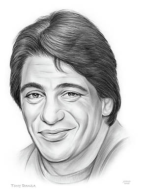 Drawings Royalty Free Images - Tony Danza Royalty-Free Image by Greg Joens