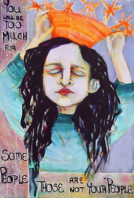 Wall Art - Mixed Media - Too Much by Jen Walls