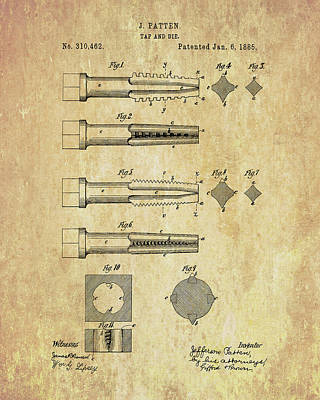 Drawing - Tool And Die Patent by Dan Sproul