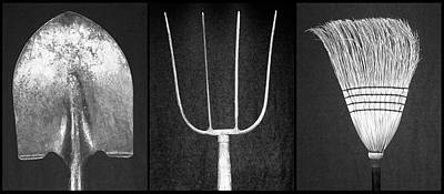 Photograph - Tools Of The Trade Bw by Rudy Umans