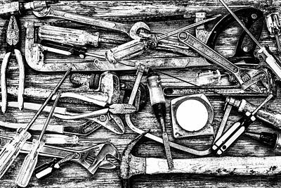 Photograph - Tools Of The Trade Grayscale by Joseph S Giacalone
