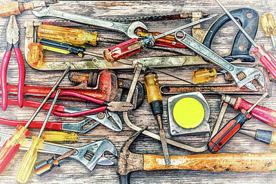 Photograph - Tools Of The Trade Vintage by Joseph S Giacalone