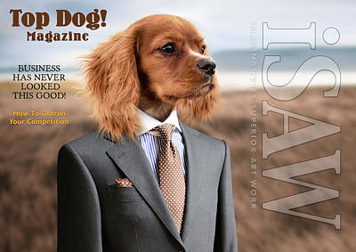 Digital Art - Top Dog Magazine by ISAW Gallery
