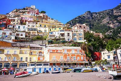 Photograph - Top View At Positano Beach by John Rizzuto