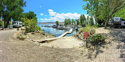 Photograph - Topaz Landing Boat Dock Pano by Joe Lach