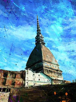 Surrealism Digital Art - Torino Mole by Andrea Gatti