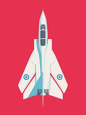 Military Aircraft Wall Art - Digital Art - Tornado Swing Wing Jet - Crimson by Ivan Krpan