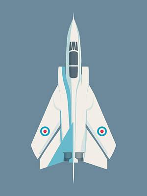 Military Aircraft Wall Art - Digital Art - Tornado Swing Wing Jet - Slate by Ivan Krpan