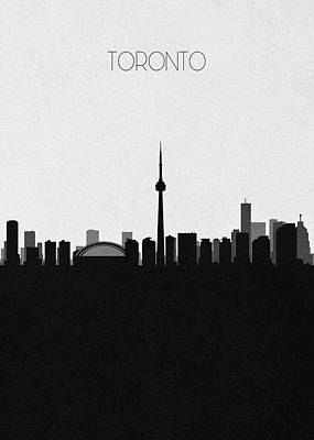 Digital Art - Toronto Cityscape Art by Inspirowl Design